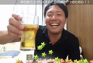 プルプッシュ白田酒飲み写真